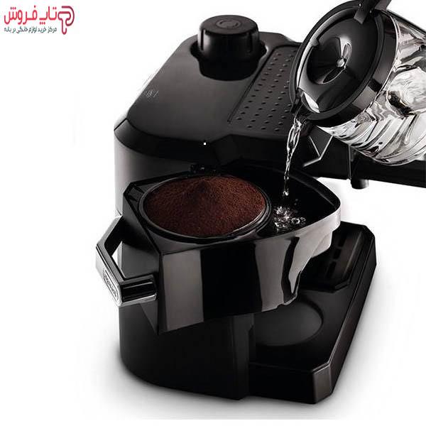 آب ریختن داخل محفظه قهوه اسپرسوساز دلونگی 320